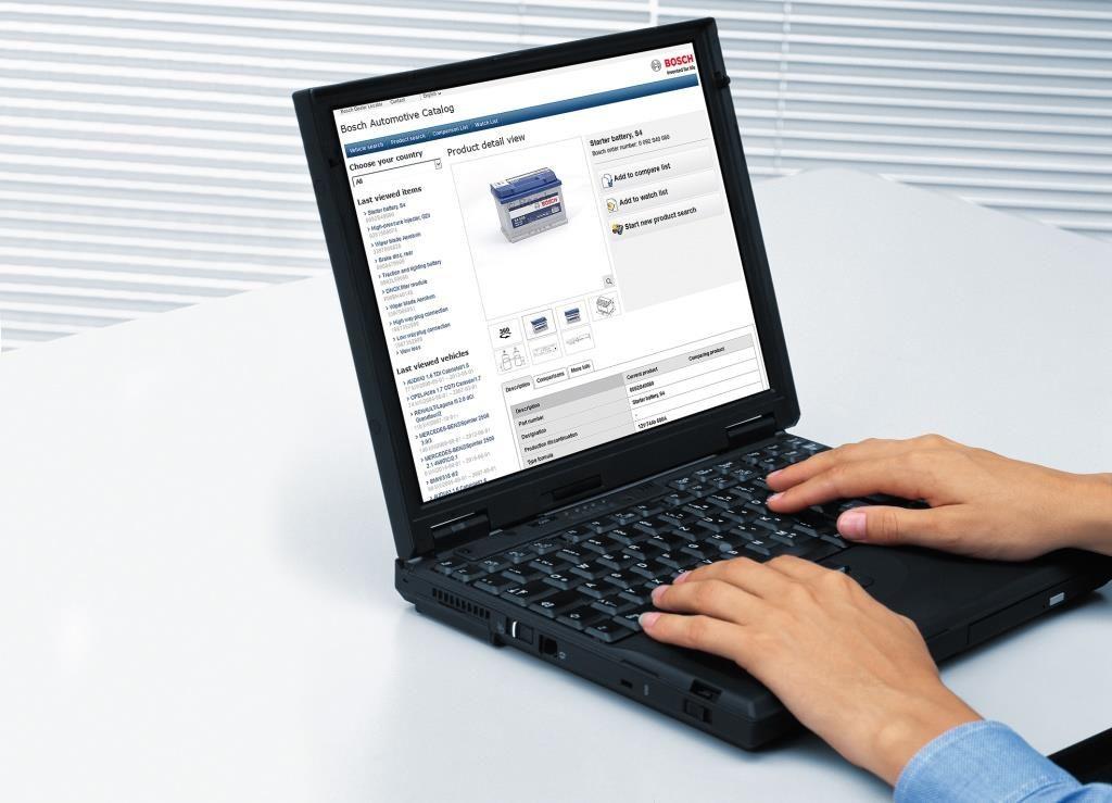 Онлайн-каталог для всех автомобильных запасных частей Bosch Bosch eCat-online